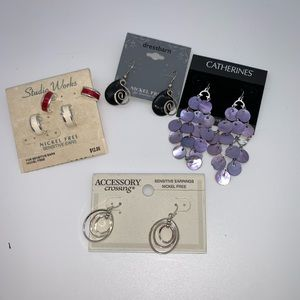 Lot of 4 new with tag earrings